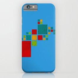 Elephant art blue iPhone Case
