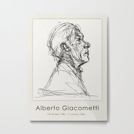 Poster-Alberto Giacometti-Portrit of a man. Metal Print