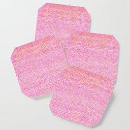 Pink Simple Flat weave Rug Texture Pattern Coaster