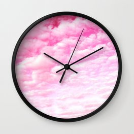 Pink cotton Candy Sky Wall Clock
