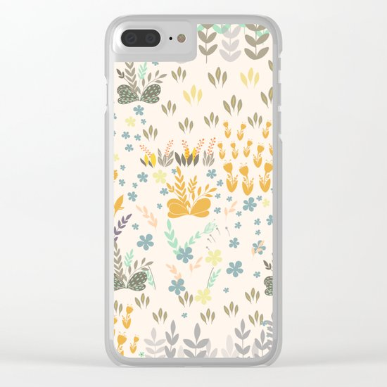 Amy Garden Clear iPhone Case