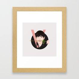 V BTS Framed Art Print
