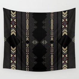 Southwestern Black Diamond Stripe Patterns Wall Tapestry