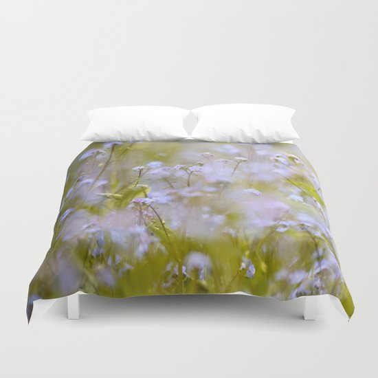Forget-me-nots On a Windy Day Duvet Cover
