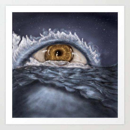 Eye Did Not Cry Myself A River Art Print