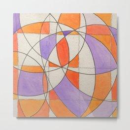 Purple, Orange, Arc Metal Print
