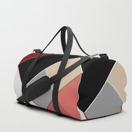 Brown grey abstract pattern . Duffle Bag