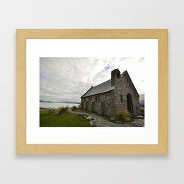 Lake Tekapo Church Framed Art Print