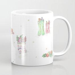 Christmas Boots Pattern Coffee Mug