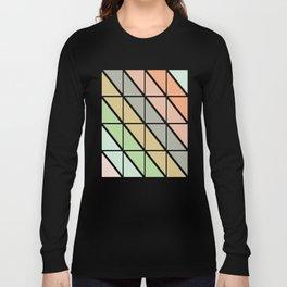 Retro Geometric Triangle Pattern Long Sleeve T-shirt