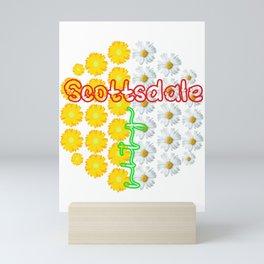 Arizona Scottsdale Sunflower city women Mini Art Print