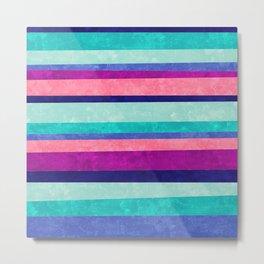 Stripes Askew Metal Print