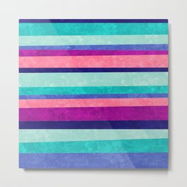Stripes Askew Metal Print
