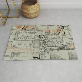 Vintage Map of The Roman Forum (1911) Rug