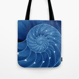 Malibu Blu Mood - Chambered Nautilus  Tote Bag
