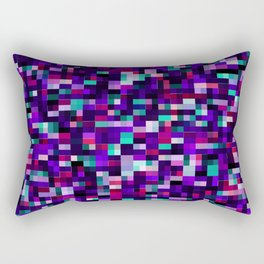 Purple pixel noise static pattern Rectangular Pillow