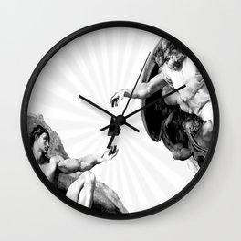 God give Secrets to Man Wall Clock