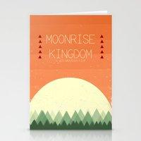 moonrise kingdom Stationery Cards featuring Moonrise Kingdom by Courtney Vlaming