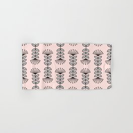 Retro Pink Floral Pattern-Mix and Match with Simplicity of Life Hand & Bath Towel
