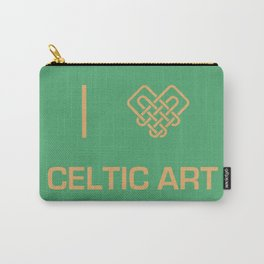 I heart Celtic Art Carry-All Pouch