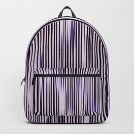 soft monochrome ikat stripe with purple accent Backpack