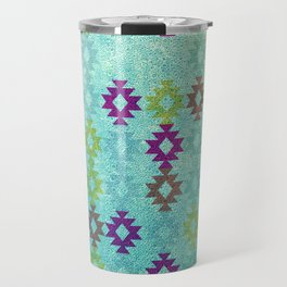 Santa Fe Dreams Geometric Aztec Colorful Design Travel Mug