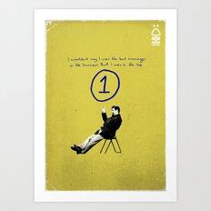 Nottingham Forest Legends Series: Brian Clough Graphic Poster Art Print