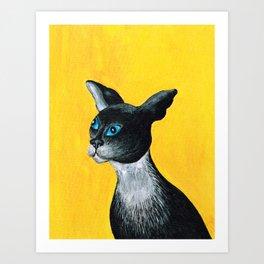 Tuxido Cat Art Print