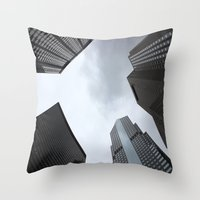 buildings Throw Pillows featuring Buildings by Amy Fairlamb
