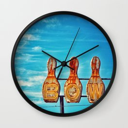 Valley Bowl - Madera, CA Wall Clock