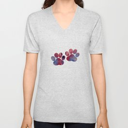 Dog Paw Prints Unisex V-Neck