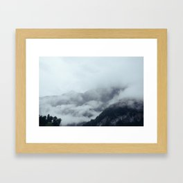 Among the Swiss Clouds Framed Art Print