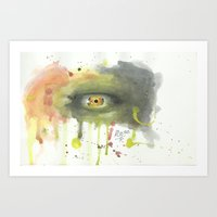 evil eye Art Prints featuring EVIL EYE by GEORGE SILLIMAN