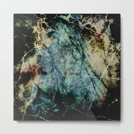 Marble ink abstract art Metal Print