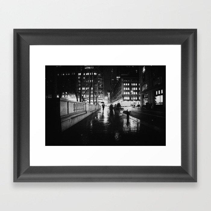 New York City Noir Framed Art Print