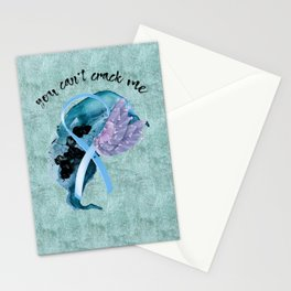 You Can't Crack Me Stationery Cards