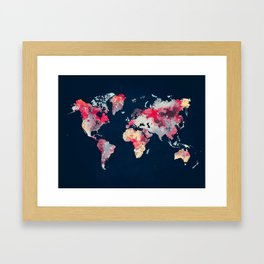 world map 69 Framed Art Print