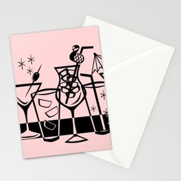 Retro Cocktails II Stationery Cards