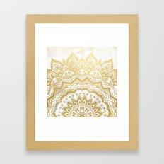 GOLD ORION JEWEL MANDALA Framed Art Print