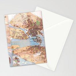 Stockholm Map 1885 Stationery Cards