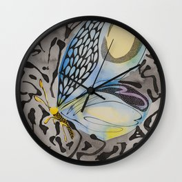 Notice me in Blue 3 Wall Clock