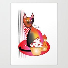Charlie Cupcakes Art Print