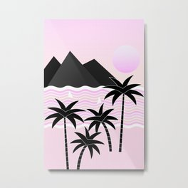 Hello Islands - Pink Skies Metal Print