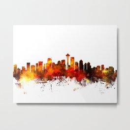 Seattle Washington Skyline Metal Print