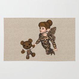 Little Girl Fairy Baby Bear Rug