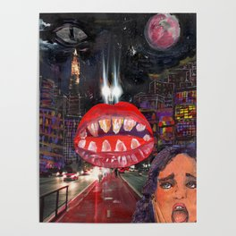 a monster lips nsin my city Poster