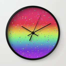 Rainbow Fairy Kei Pattern Wall Clock