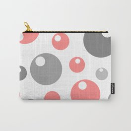 Soda Bubbles -Gray & Pink mix Carry-All Pouch
