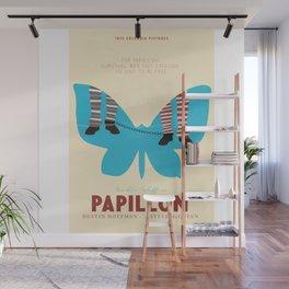 Papillon, Steve McQueen vintage movie poster, retrò playbill, Dustin Hoffman, hollywood film Wall Mural