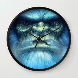 Abominable Snowman Wall Clock